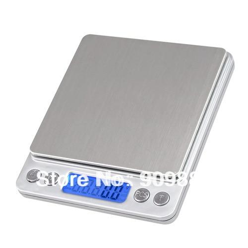 3000 g 0,1 g skaitmeninės kišeninės svarstyklės 3 kg 0,1 - Matavimo prietaisai - Nuotrauka 2