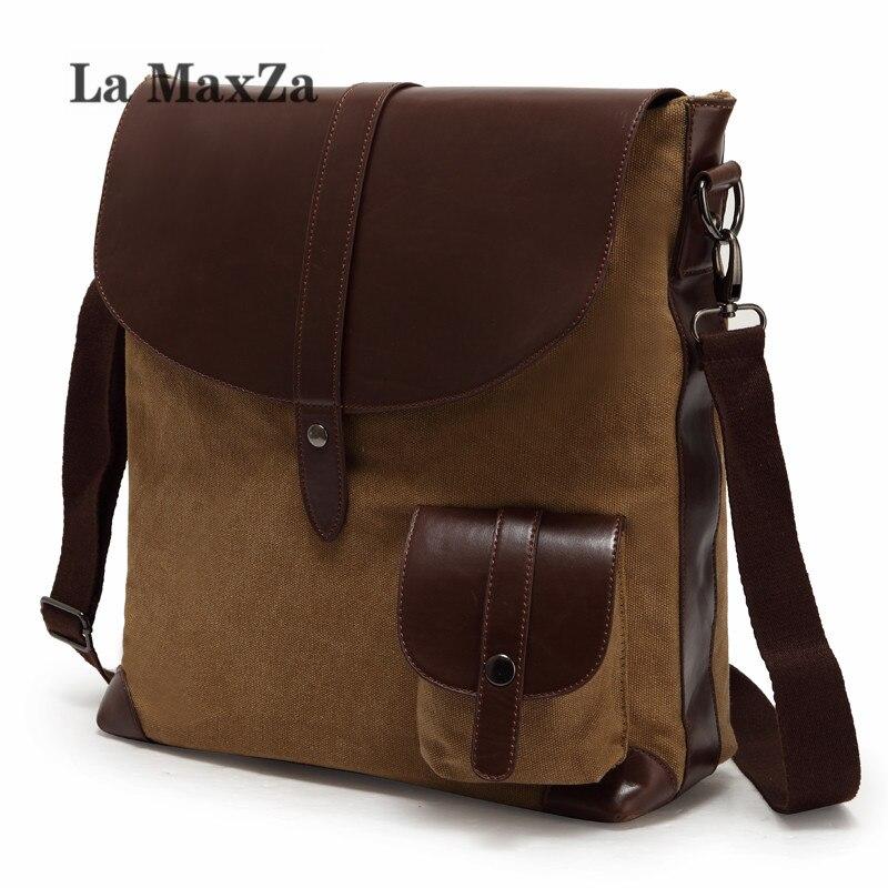 La Maxza Retro canvas men's bag European and American fashion men's bag LJX-23