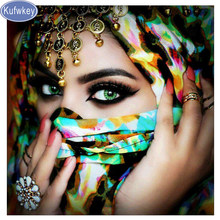 5d Diy Diamond Painting Cross Stitch mask women sticker Diamond Embroidery Crystal full square Diamond Mosaic puzzle 3d Pictures(China)