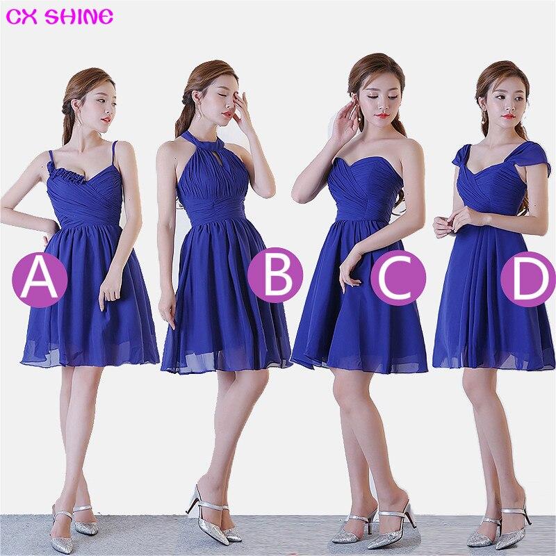 CX SHINE New Custom color Size Sweet 4 style blue short   Bridesmaid     Dresses   colors wedding   dress   Prom party   dress   women Plus size