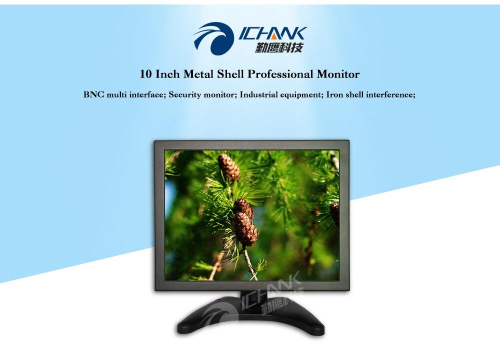 ᐅZB100TN-705/10 pulgadas cáscara del metal monitor/10 pulgadas ...