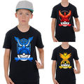 Details about  Kids Cartoon T shirt Baby Boys Short Sleeve Pokemon Go Summer Tee Tops 1-7Y 2016 NEW Fashion