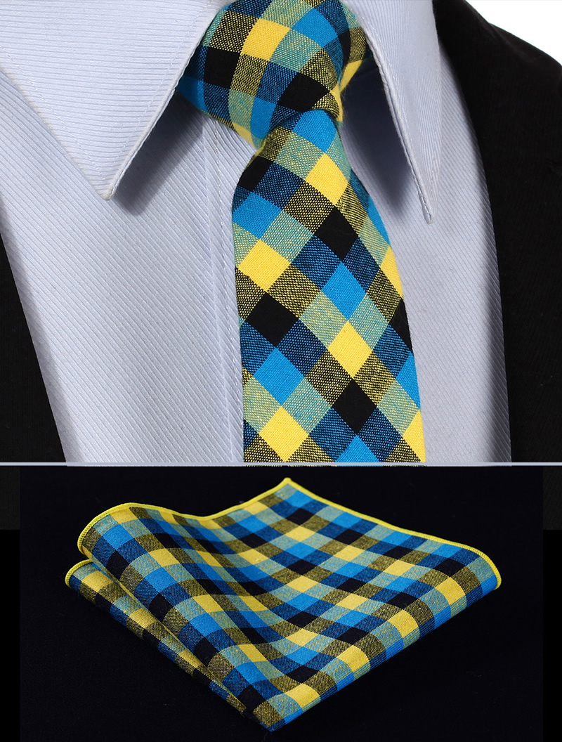 TMC202Y7 Yellow Blue Plaid 2.75