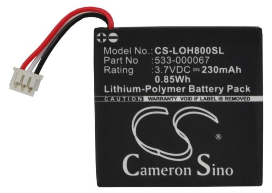 100% Verdadero Batería 230 Mah H800 Para Logitech H800 533-000067 Ahb472625pst L/n: 1109 L/n: 1110 Ahb472625pst Baterías