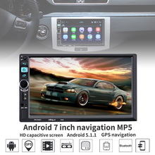 7 Inch 2 Din Bluetooth Android 5.1 ROM 16G RAM 1G  HD Car Stereo MP5 Player Support GPS / WiFi Rear View Camera