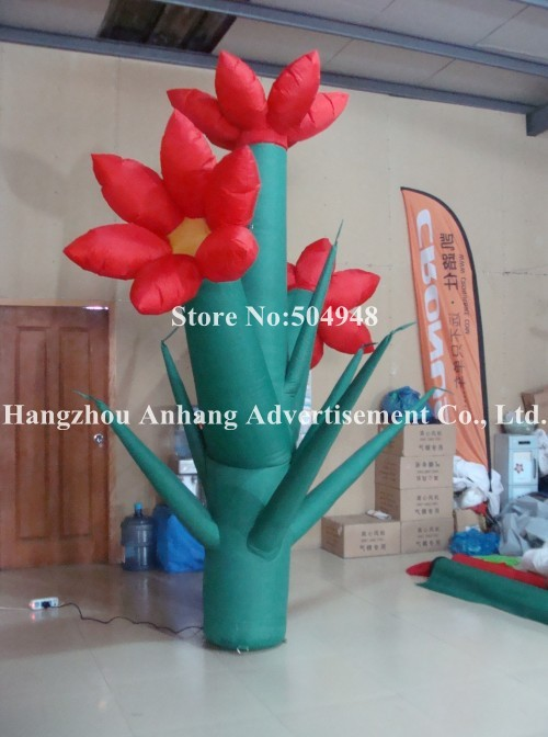 Nice Inflatable Flower For Decoration 2017 new inflatable flower long wedding decoration flower