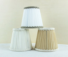 decorative lampshade, small white lamp shades for wall lamp or chandeliers DIY, Clip on(China)