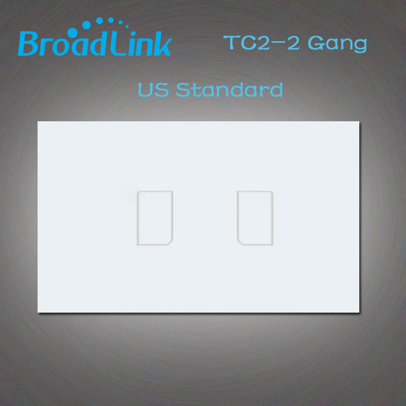 2016 New Broadlink TC2 Wall Light Touch Switch,US/AU 2Gang 110V~220V Wall Switch Wireless Remote Control, Smart Home White Panel smart home us black 1 gang touch switch screen wireless remote control wall light touch switch control with crystal glass panel
