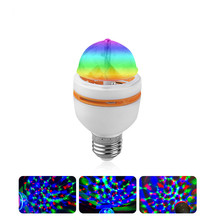 Auto RGB LED Lamp Rotating Holiday E27 3W 85-265V Crystal Magic Projector Bulb DJ Disco Stage Effect Light For Festival Party