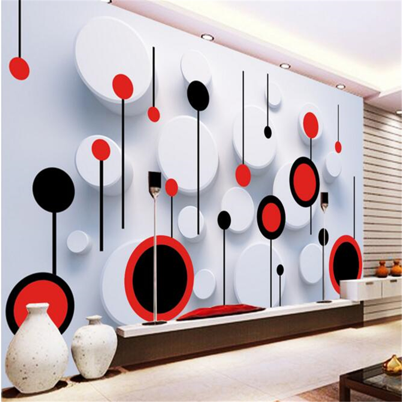 Beibehang 3d Wallpaper Custom Mural Non-woven Wall Sticker 3 D TV Setting Wall Fashion Circle Photo 3d Wall Murals Wallpaper