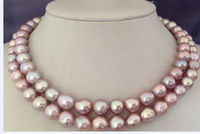 38inch 11 12MM natural lavender freshwater pearl necklace