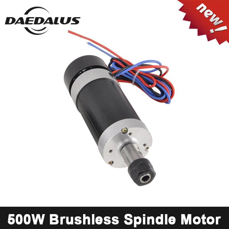 500W CNC Brushless Spindle Motor ER11 ER16 Air Cooled Spindle Motor 55mm 48V Spindle Router Tools
