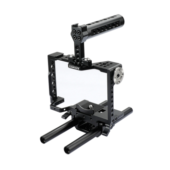 CAMVATE Camera Cage Rig With Top Handle & 15mm Dual Rod For a7 II, a7R II, a7S II, a7 III, a7R III, a9 Series  C1998