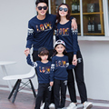Love Star Fall Navy Sweatshirts Casual Family Clothing Mother Daughter Father Son Matching Clothing Family Set Women Men Kid GB5