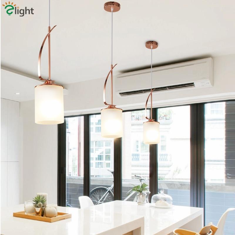 Nordic Dining Room Plate Rose Gold Pendant Lamp E27 Led Pendant Lights Glass Shades Hanging Light Bar Suspension Lamparas худи print bar 50 shades