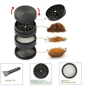 4 Layers Zinc Alloy Hand Crank Herb Mill Crusher Tobacco / Herb / Spice Grinder Grinder 40mm
