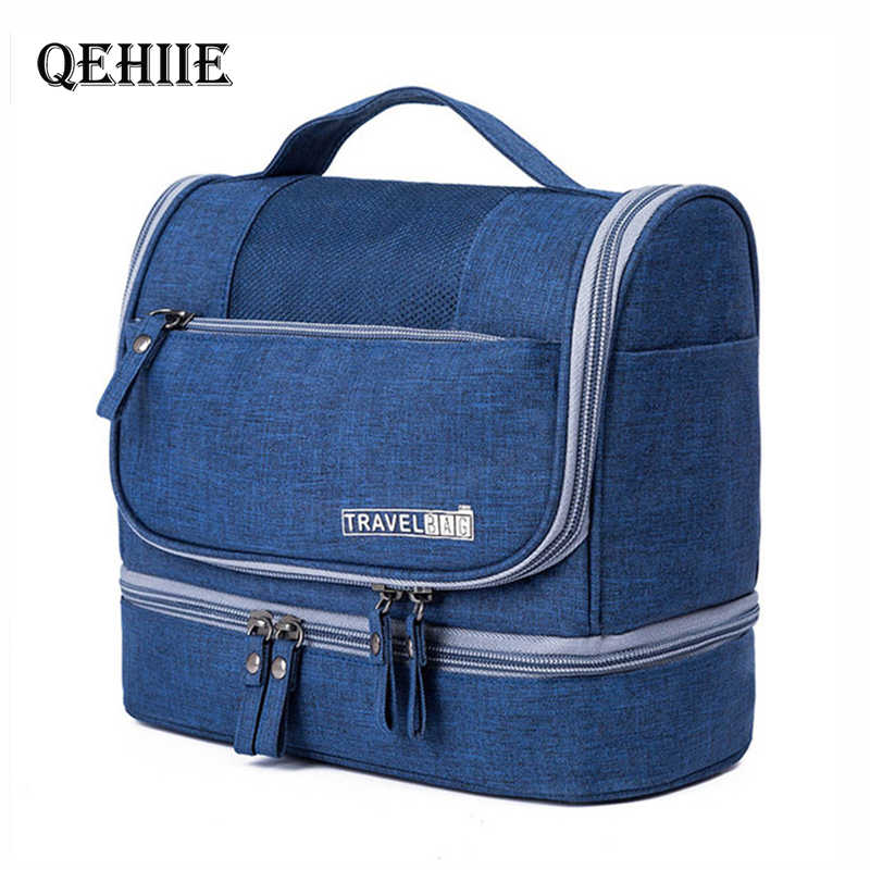 Men Hanging Makeup Bag Travel Organizer Cosmetic Bag for Women Necessaries Make Up Case Dry and wet separation Wash Toiletry Bag