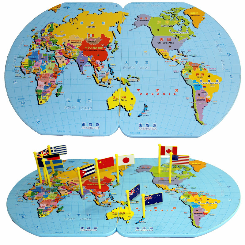 Aliexpresscom  Buy New Small Map Of The World Put Flags Early