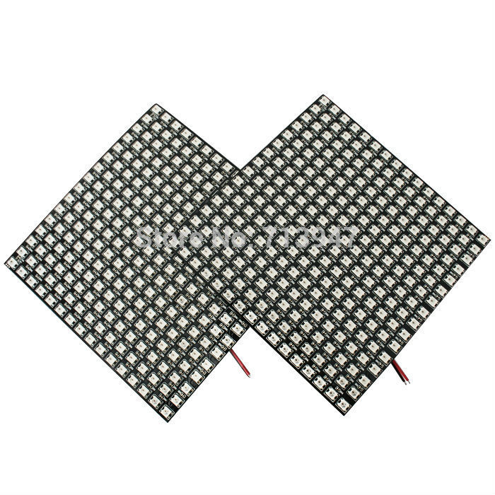 1X Individually control APA104 RGB LED led display matrix fiber board plate 784LEDs /600LEDs/196LEDs express free shipping