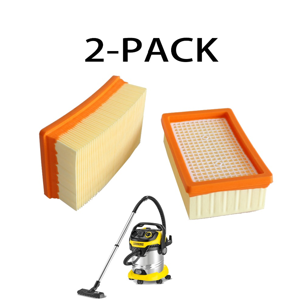 2-pack Flat-Pleated Filter HEPA for KARCHER 2.863-005.0  MV4 MV5 MV6 WD4 WD5/P WD 6 P  wet & dry vacuum cleaner filter HEPA