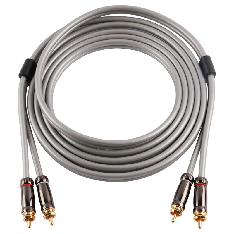 Skw Hifi  audiophile Stereo audio cable 2 RCA to 2 RCA Male Jack Male Braided for subwoofer CD Tube amplifier DVD Speaker TV AV  skw audio cable speaker wire male to male hi end gold plated jack nylon cable lock adapter connector for hifi amplifier 5 16ft