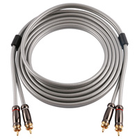 Skw HC3201 Hifi Stereo Audio Aux Cable 2RCA To 2RCA Male Oxygen Free Jack Male Braided