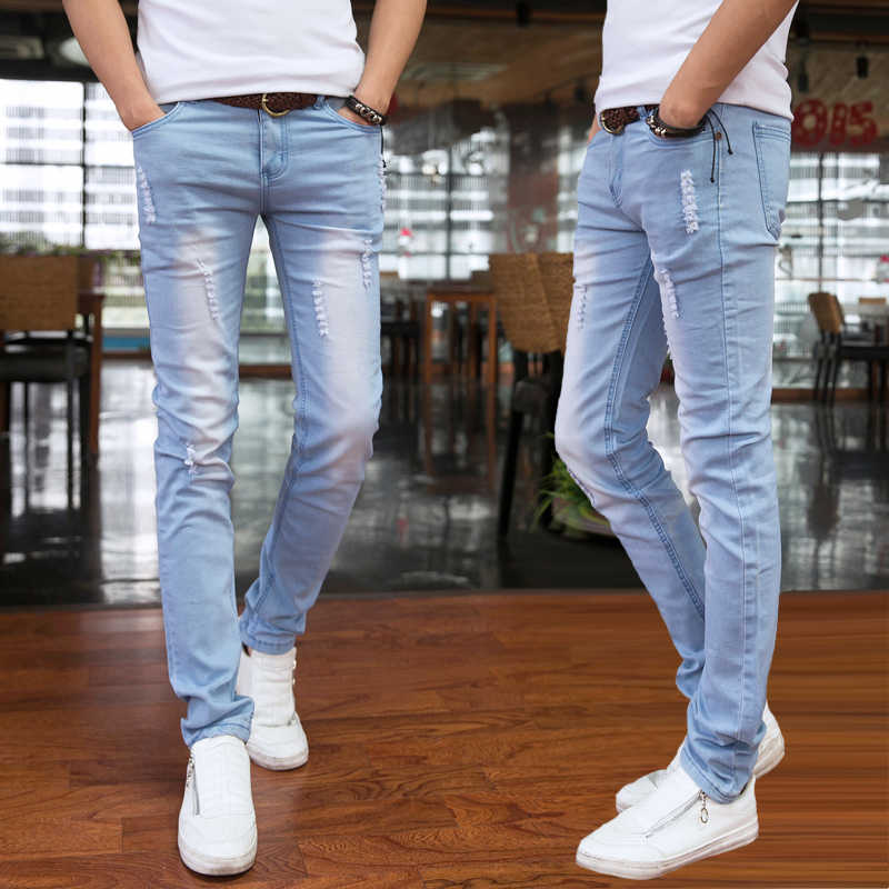 2019 Spring and Summer New Men's Jeans Pant Korean Style