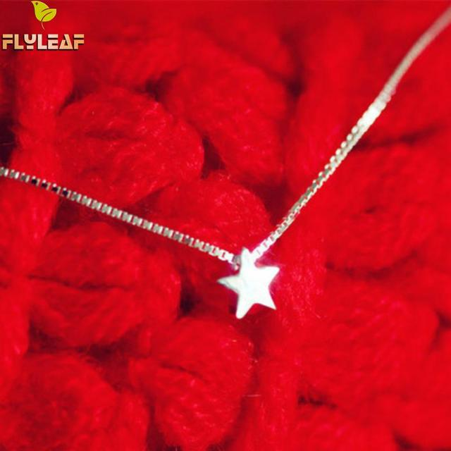 Flyleaf 925 Sterling Silver Little Stars Necklaces & Pendants For Women Fashion