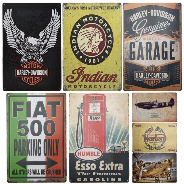 Motor Oil Plaque Vintage Metal Tin Signs Home Bar Pub Garage Gas Station Decorative Iron Plates Wall Stickers Art Poster