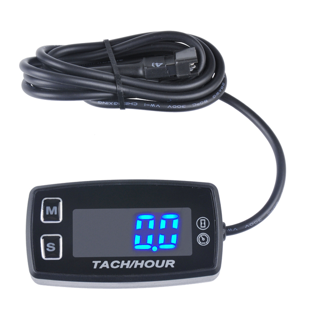 Runleader LED Tach Hour Meter HM035L thermometer voltmeter temperature meter for marine dirt quad bike pit bike golf