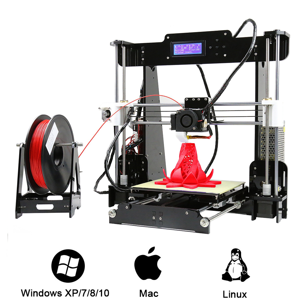 Anet A8 High Precision 3D Printer Kit 0.4mm Nozzle 100mm/S High Accuracy DIY 3D Printing Kit Large Printing Size New Year Gift alfani new black women s size small s mesh back high low ribbed blouse $59 259