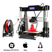 Anet A8 High Precision 3D Printer Kit 0.4mm Nozzle 100mm/S High Accuracy DIY 3D Printing Kit Large Printing Size New Year Gift