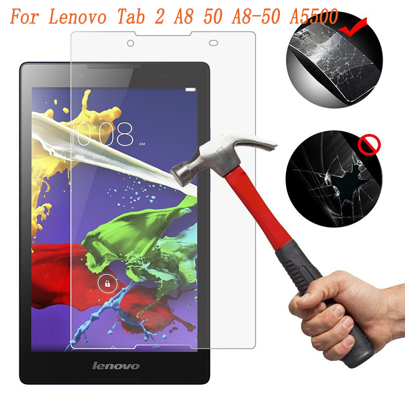Tempered Glass For Lenovo Tab 2 A8 50 A8-50 A5500 A8-50F A8-50LC Tab2 8.0 Inch Tablet Screen Protector Protective Film Glass 9H
