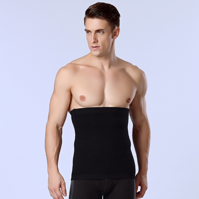 Men Tight Vest Slimming Belt Body Shaper Gym Corset Posture Waist Trainer Training Sport Safety Hot Cummerbund Black HSNY014