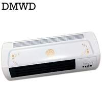 DMWD Warm Cool Dual Use Conditioner Electric Heater Fan Bathroom Wall Hanging Air Blower Warmer Ceramic
