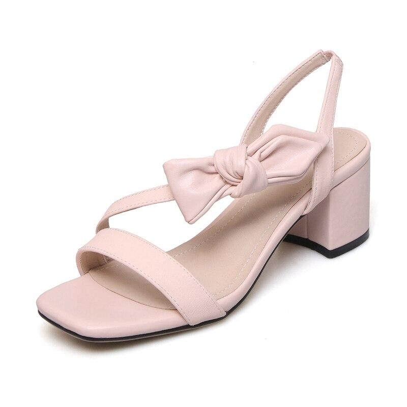Slip Bout Ouvert Cuir Black Womans Sandales Véritable 39 Zyl2689 Talons En Taille Feminina À Sandalia Femmes 34 on pink Chaussures Décontracté Enmayer 4xCq5C