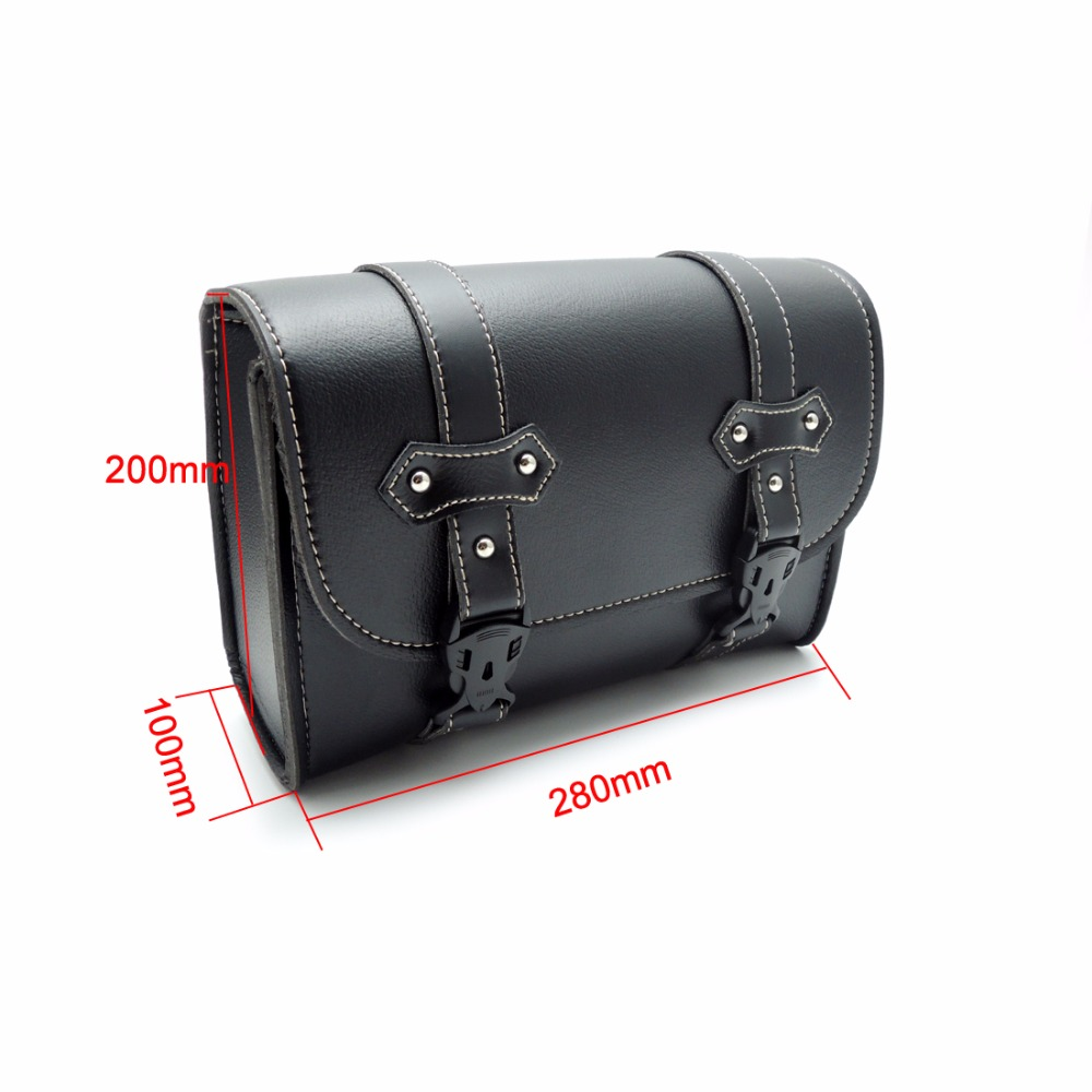 Motorcycle Saddlebag Pu Leather Bag Sissy Bar Bags Storage