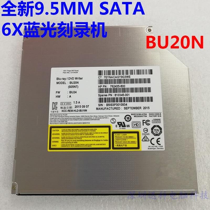 NEW BU10N BU20N 9.5mm SATA 6X 3D Blu-ray Burner BD-RE DL Dual Layer Bluray Writer Super Slim Laptop Internal SATA Optical Drive