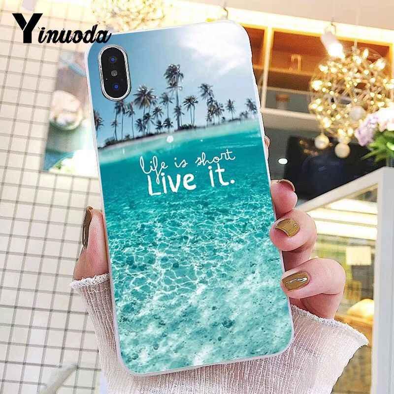 Yinuoda Ozean meer Landschaft landschaft Neuheit Fundas Telefon Fall Abdeckung für iPhone 6 S 6 plus 7 7 plus 8 8 Plus X Xs MAX 5 5 S XR