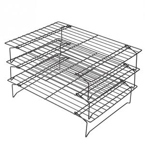 Image 3 - 3 Layers stackable cooling rack metal cake cookie biscuits bread cooling rack net mat holder dry cooler for cooking