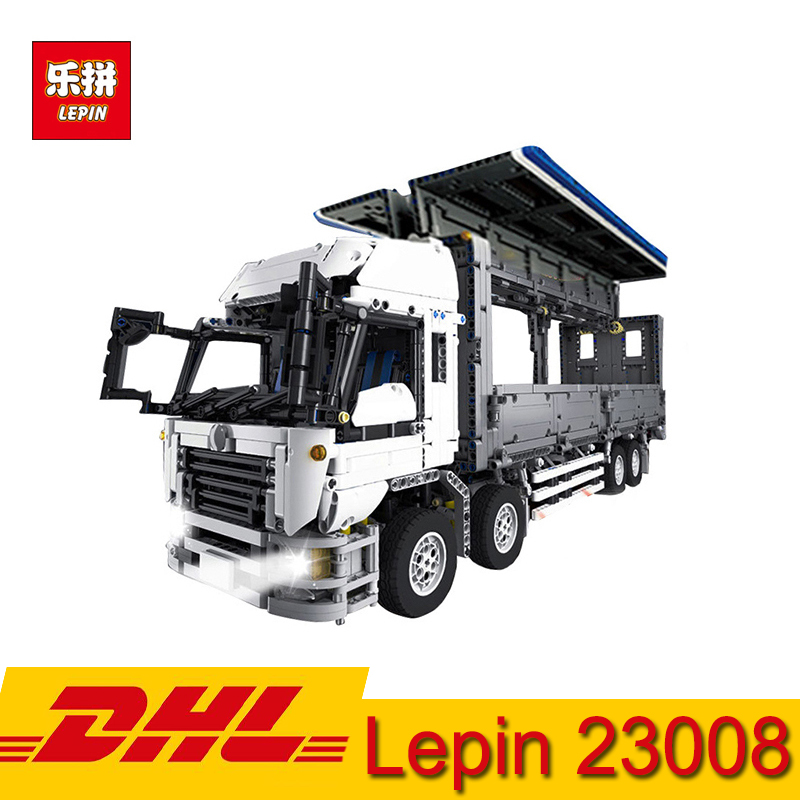 Lepin 23008 Technique Voiture Série Le MOC Aile Corps Conteneur Camion Blocs De Construction Kits 4380 pièces Briques Jouets Compatibles LegoINGs