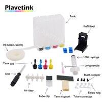 Plavetink 4 cor universal ciss tanque de tinta para hp 121 122 123 301 302 304 300 21 22 140 141 650 62 901 xl impressora cartucho tinta