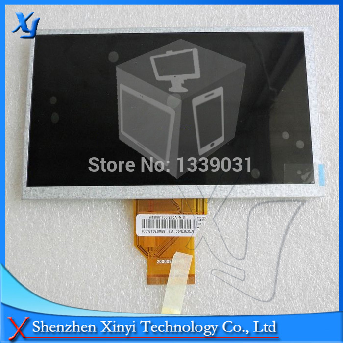 NEW 7inch TFT lcd screen INNOLUX AT070TN90 V.1 20000938-00 resolution thickness 3mm for Car DVD lcd screen free shipping