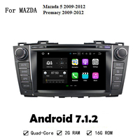 Android 7 1 2 HD Screen 2 DIN Car GPS Head Uint For Mazada 5 Premacy