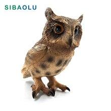 Simulation Owl Animal Model Figurine home decor miniature Ornament fairy garden decoration accessories modern Plastic statue toy