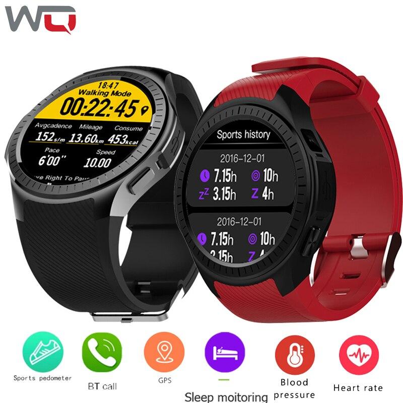WQ L1 Embutido GPS Smartwatch Relógio Inteligente medidor de Pressão Arterial monitor de Freqüência Cardíaca 2G Chamada Câmara de Altitude Medida reloj inteligente