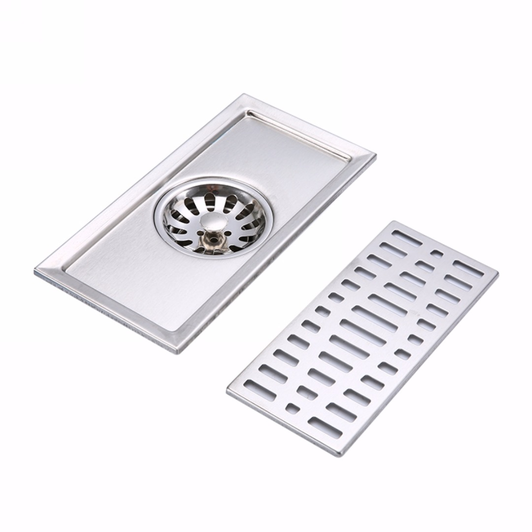 Top Quality Bathroom Floor Drain 20X10cm Square Sink Strainer For ...