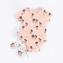Sibling Twin Girl Sweet Ice Cream Dress Outfit