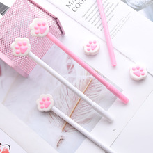 36pcs/lot Cute Cat Claw Gel Pen 0.5MM Black Ink Pens for Writing Student Stationery School Supplies