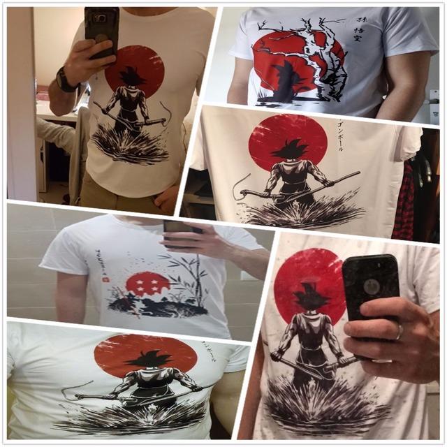 Dragon Ball Z Goku T-shirt Short sleeve O-Neck Tshirt Summer Saiyan Vegeta Harajuku brand clothing T shirt HCP316